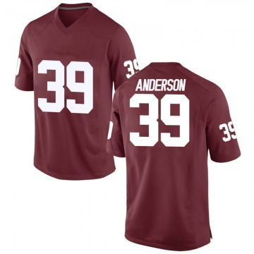 Men's Michael Anderson Oklahoma Sooners Replica Crimson Football College Jersey