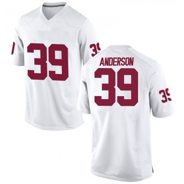 Men's Michael Anderson Oklahoma Sooners Replica White Football College Jersey